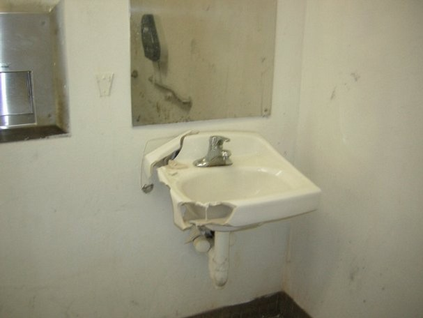 A letter to the public restroom abiding holiday for Public bathroom sink